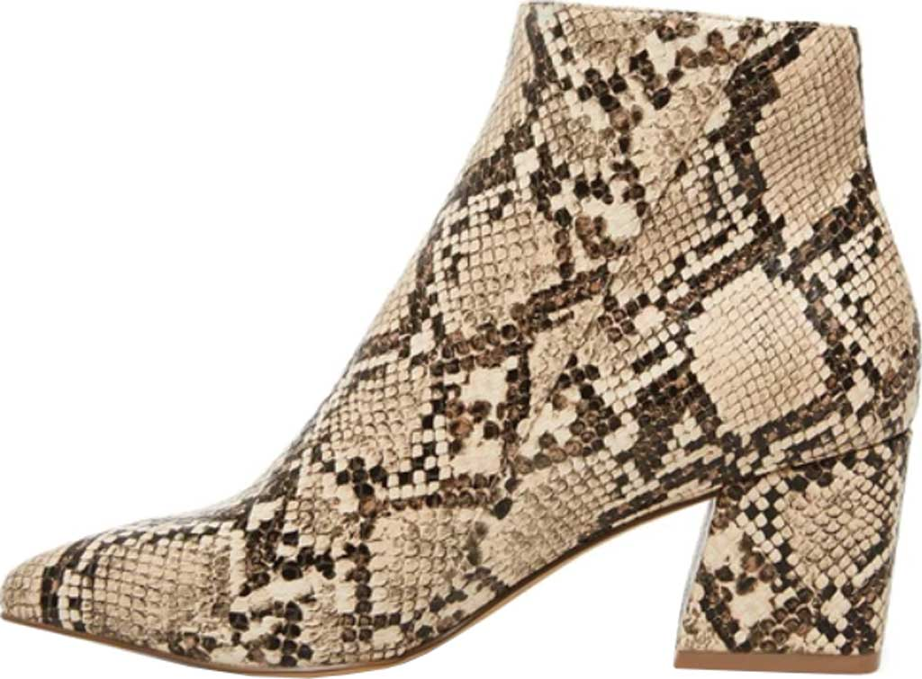 Women's Steve Madden Checkmate Bootie, Tan Snake Synthetic Leather, large, image 3