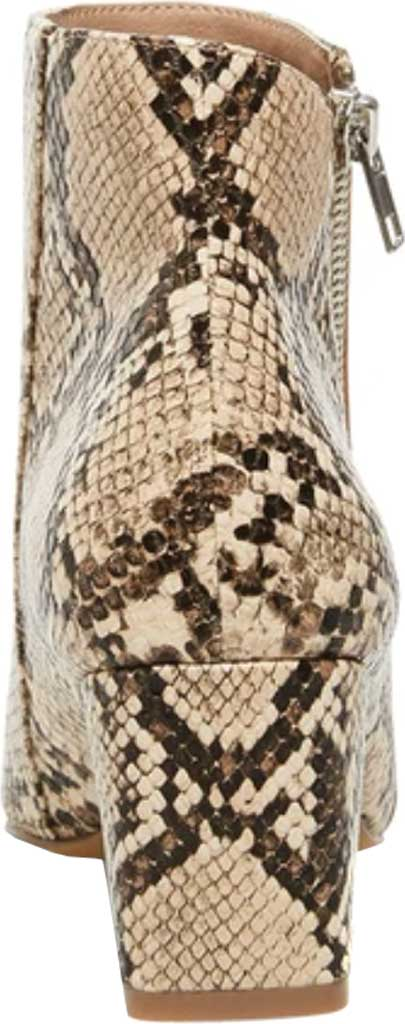 Women's Steve Madden Checkmate Bootie, Tan Snake Synthetic Leather, large, image 4
