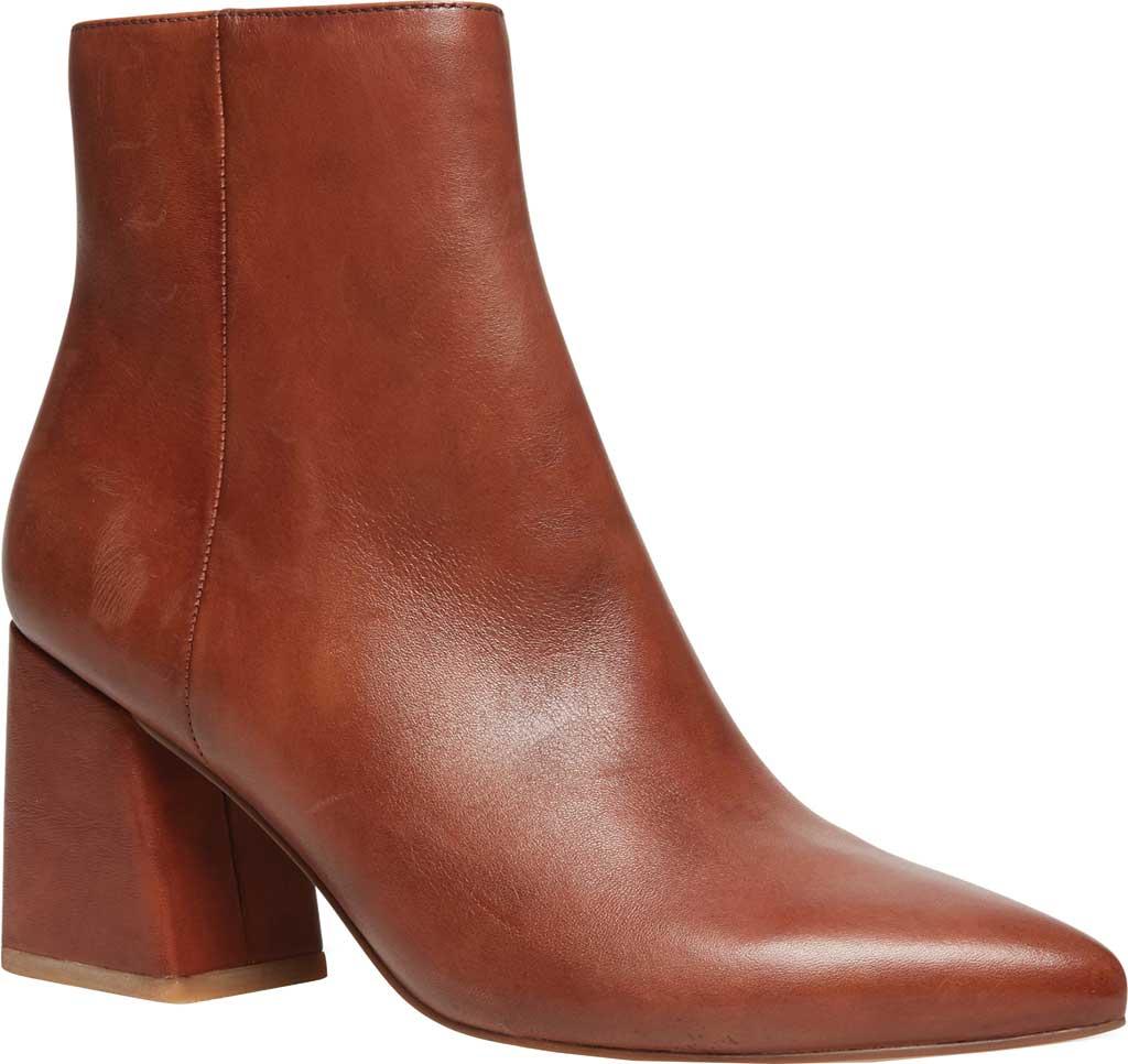 Women's Steve Madden Nix Flared Heel Bootie, Cognac Leather, large, image 1