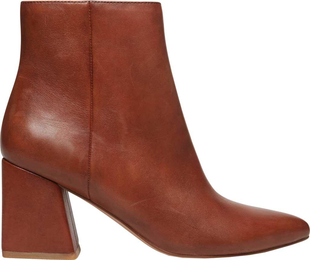 Women's Steve Madden Nix Flared Heel Bootie, Cognac Leather, large, image 2