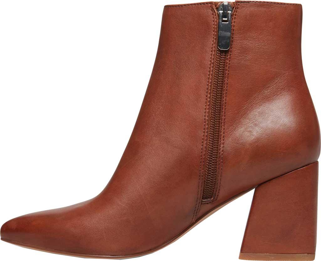 Women's Steve Madden Nix Flared Heel Bootie, Cognac Leather, large, image 3
