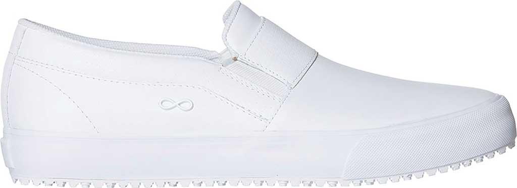 Men's HeartSoul Rush Leather Slip-On Sneaker, White/White Leather, large, image 1
