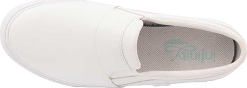Men's HeartSoul Rush Leather Slip-On Sneaker, White/White Leather, large, image 2