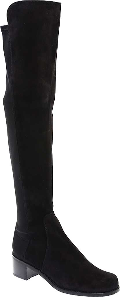 Women's Stuart Weitzman Reserve Over-the-Knee Vacuno Leather Boot, Black Vacuno Leather/Fabric Micro-Stretch Gabardin, large, image 1