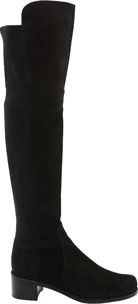 Women's Stuart Weitzman Reserve Over-the-Knee Vacuno Leather Boot, Black Vacuno Leather/Fabric Micro-Stretch Gabardin, large, image 2
