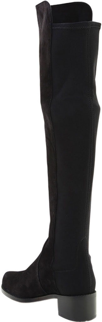 Women's Stuart Weitzman Reserve Over-the-Knee Vacuno Leather Boot, Black Vacuno Leather/Fabric Micro-Stretch Gabardin, large, image 3