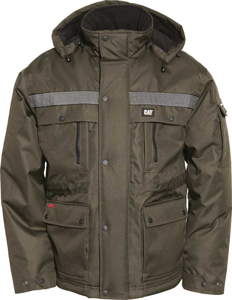 Men's Caterpillar Heavy Insulated Parka, Army Moss, large, image 1