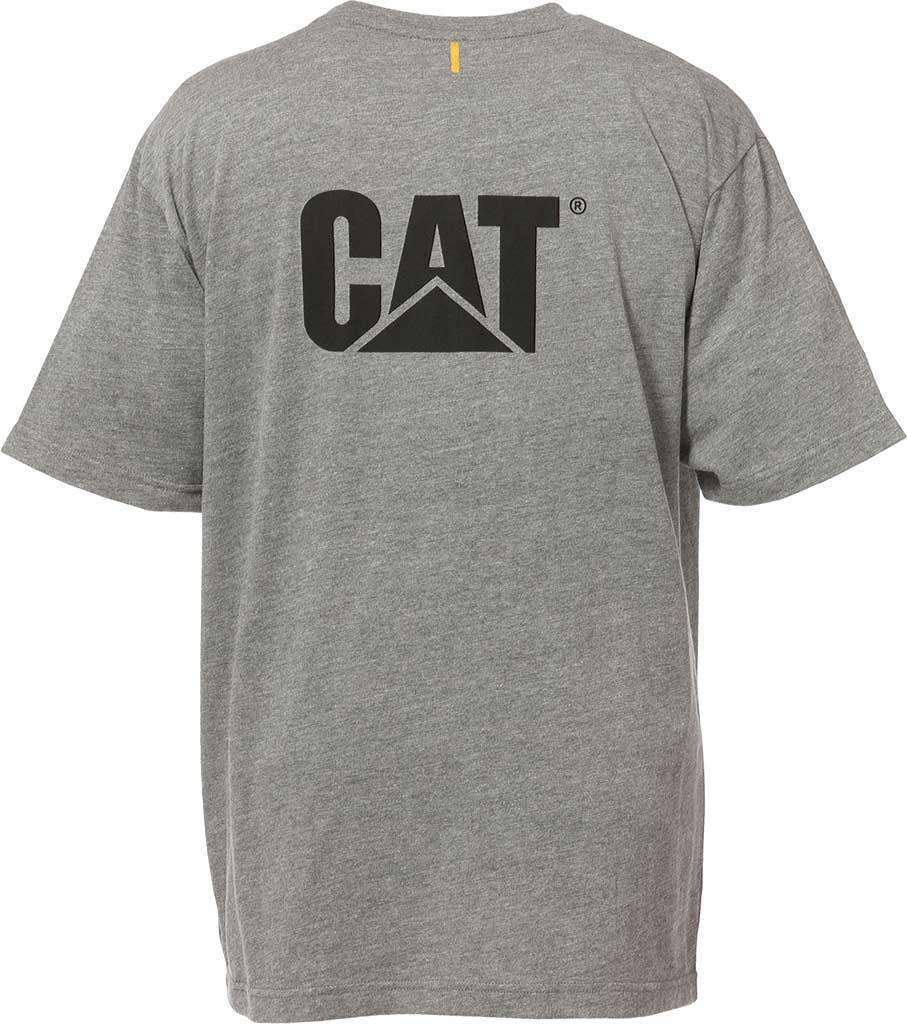 Men's Caterpillar Trademark Short Shirt Tee, Bright Blue, large, image 2