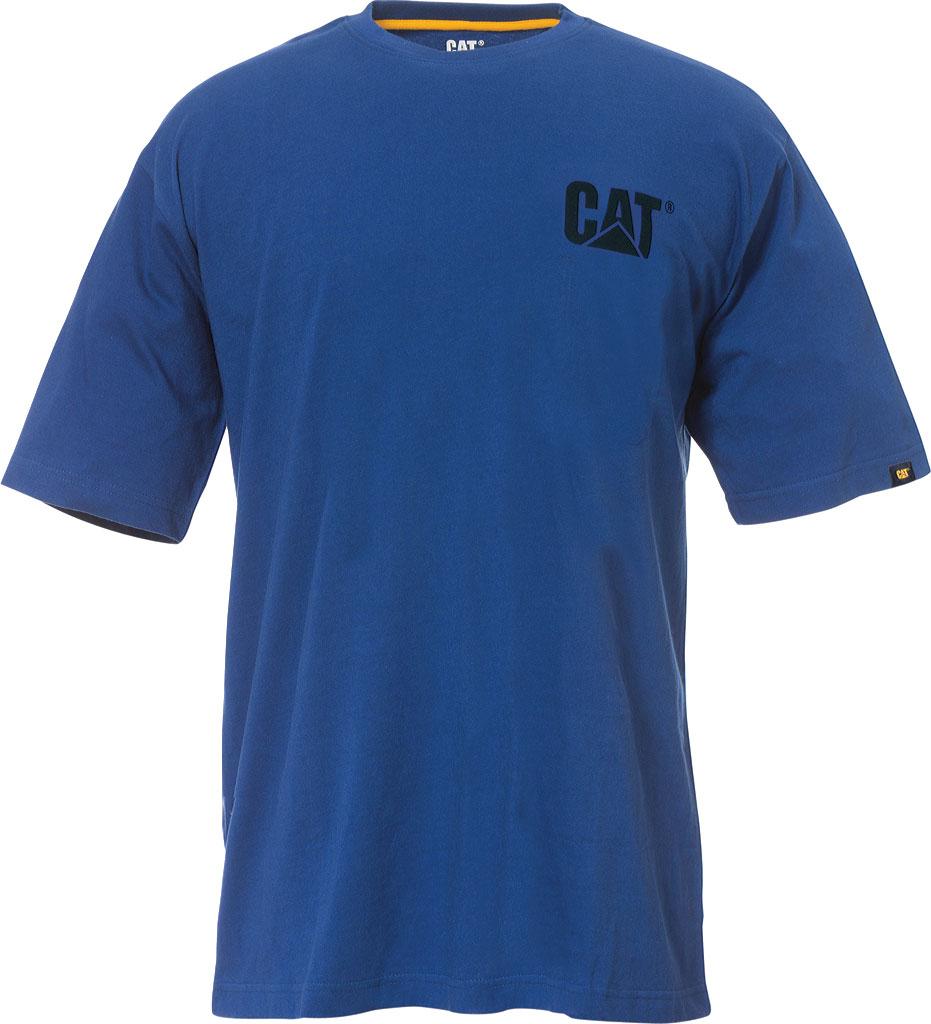 Men's Caterpillar Trademark Short Shirt Tee, Bright Blue, large, image 1