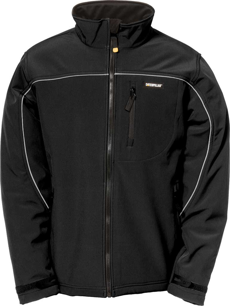 Men's Caterpillar Soft Shell Jacket, Black, large, image 1