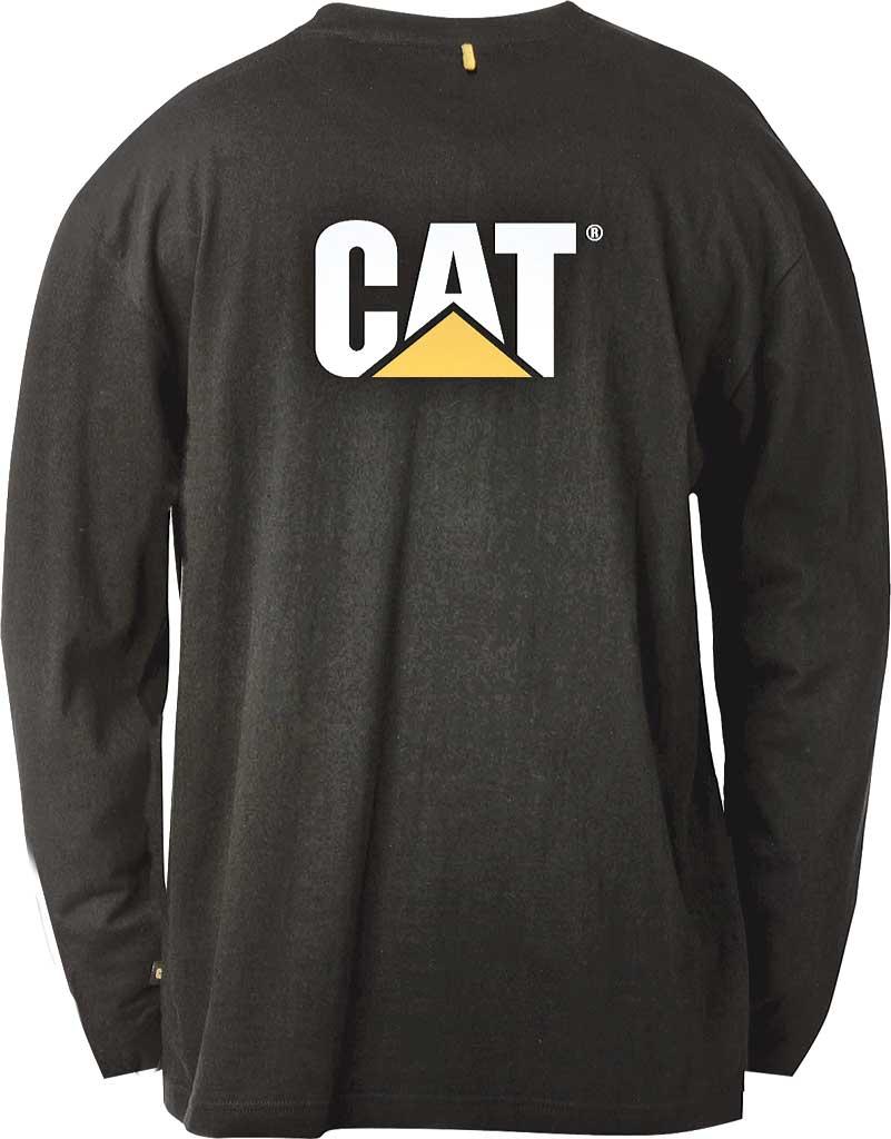 Men's Caterpillar Trademark Pocket Long Sleeve Tee, Black, large, image 2