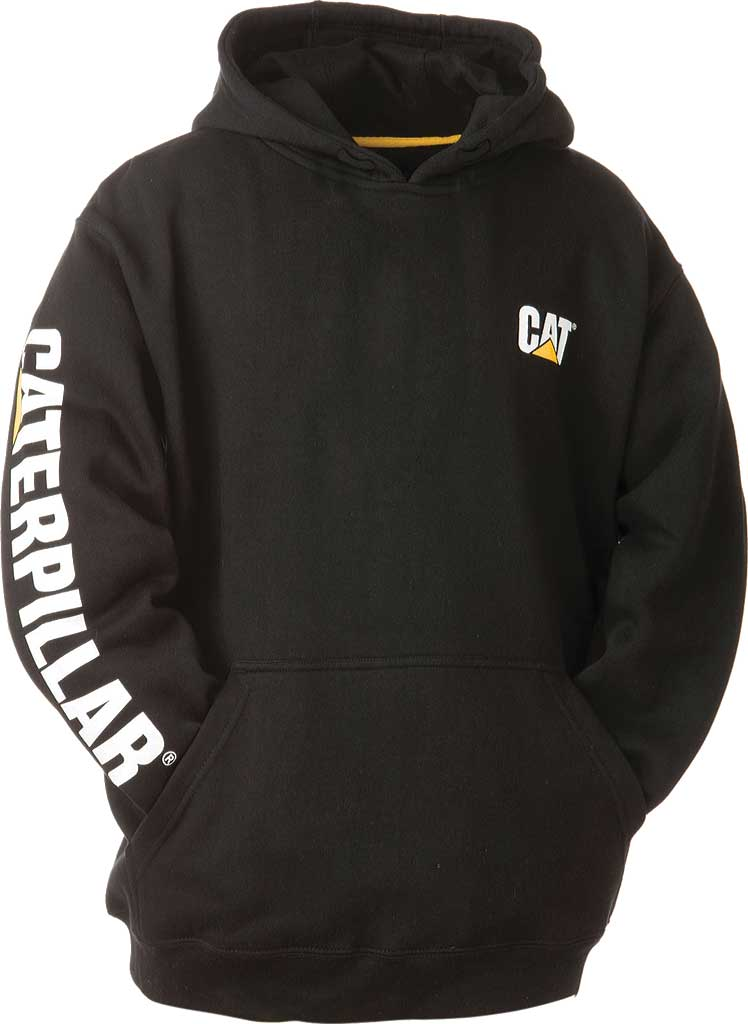 Men's Caterpillar Trademark Banner Hooded Sweatshirt, , large, image 1