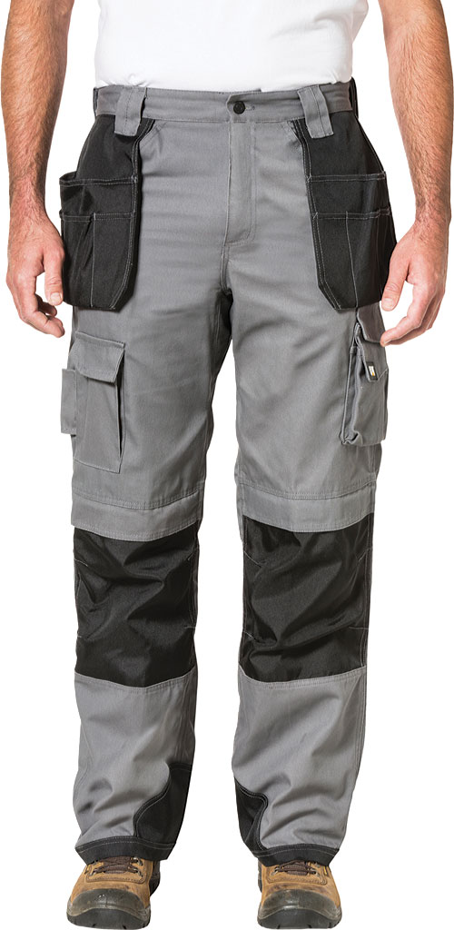 "Men's Caterpillar Trademark Trouser - 32"" Inseam, Grey/Black, large, image 1"
