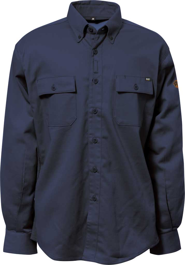 Men's Caterpillar Flame Resistant Work Shirt with Stretch Panel, , large, image 1