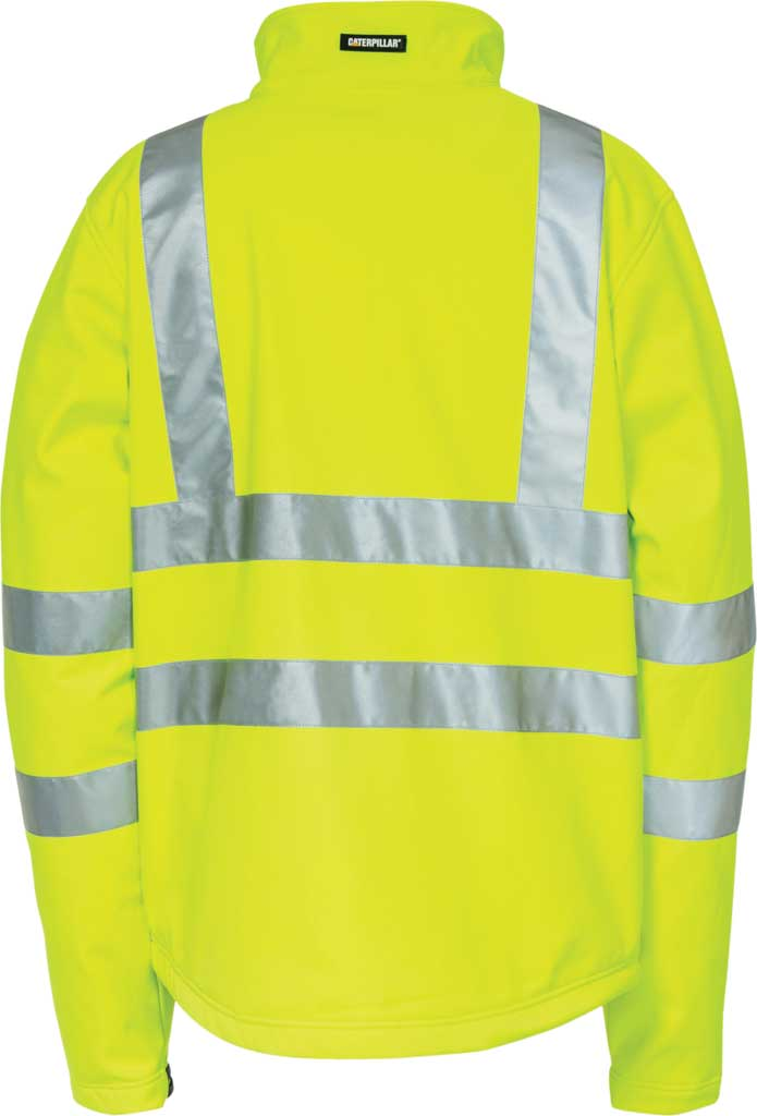 Men's Caterpillar HI VIS Soft Shell Jacket, Hi-Vis Yellow, large, image 2