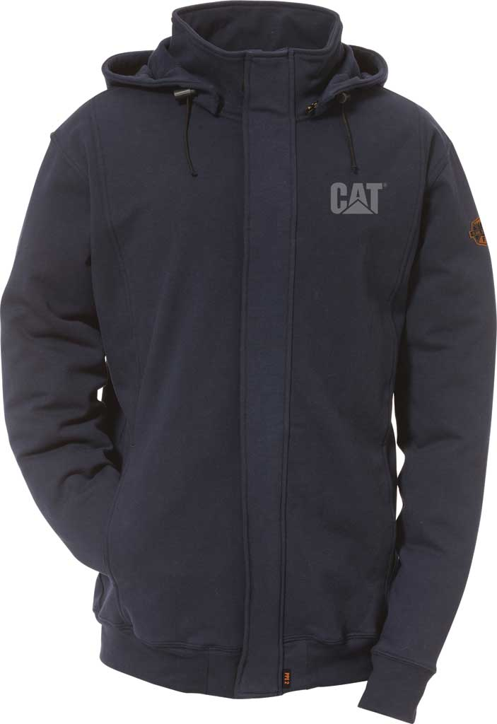 Men's Caterpillar Flame Resistant Sweatshirt with Removable Hoodie, , large, image 1