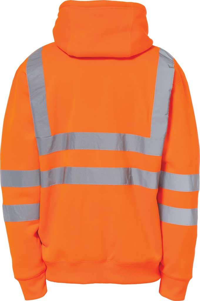 Men's Caterpillar HI VIS Full Zip Lined Sweatshirt, Hi Vis Orange, large, image 2