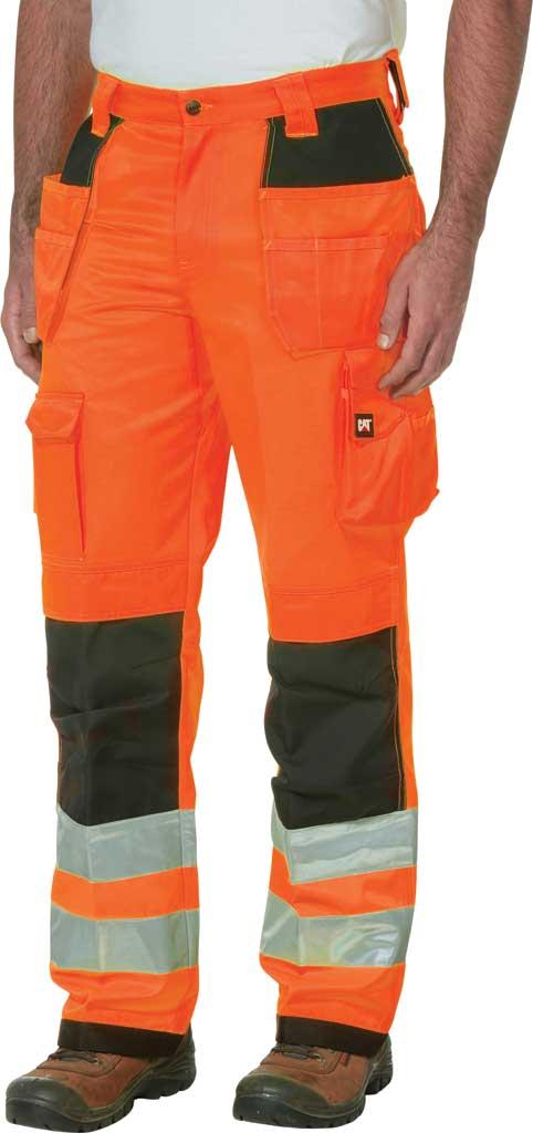 "Men's Caterpillar HI VIS Trademark Trouser - 32"" Inseam, Hi Vis Orange/B, large, image 1"