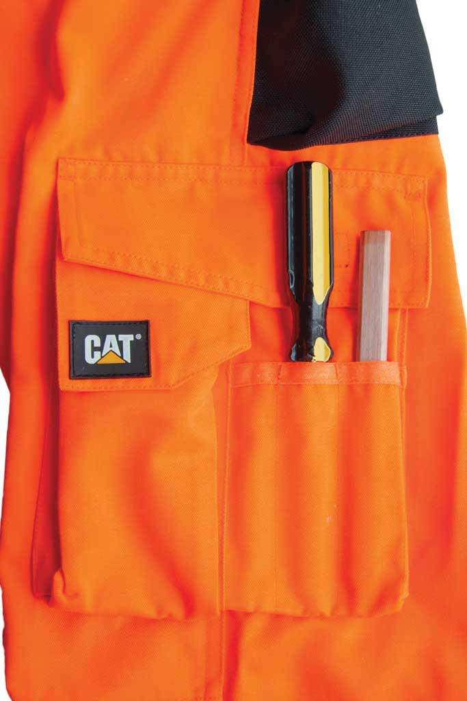 "Men's Caterpillar HI VIS Trademark Trouser - 32"" Inseam, Hi Vis Orange/B, large, image 4"