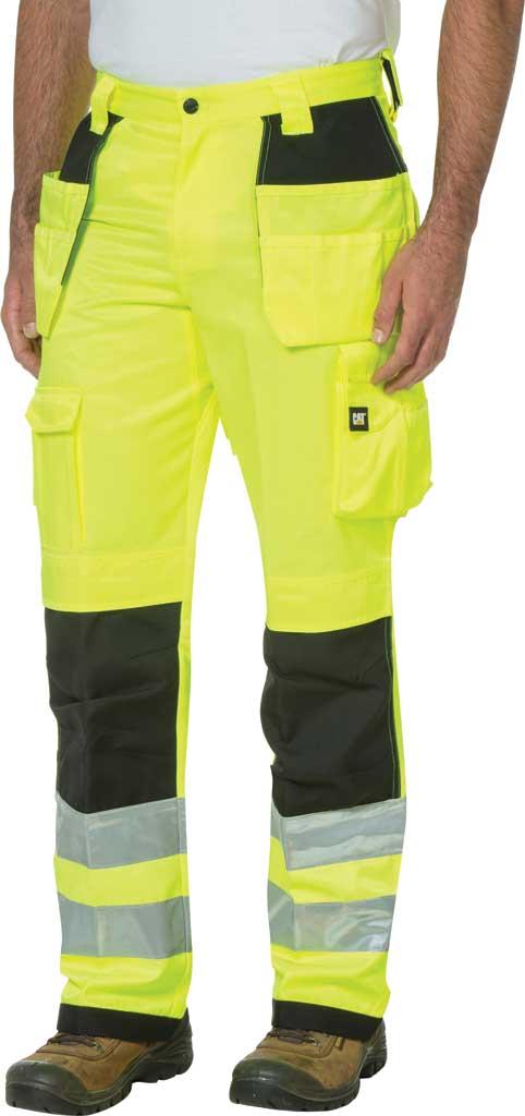 """Men's Caterpillar HI VIS Trademark Trouser - 32"""" Inseam, Hi Vis Yellow/B, large, image 1"""