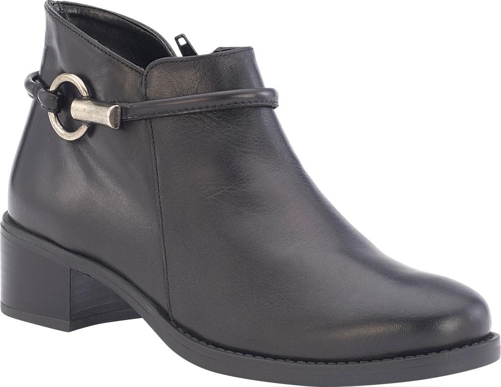 Women's David Tate Miller Ankle Boot, Black Calfskin, large, image 1