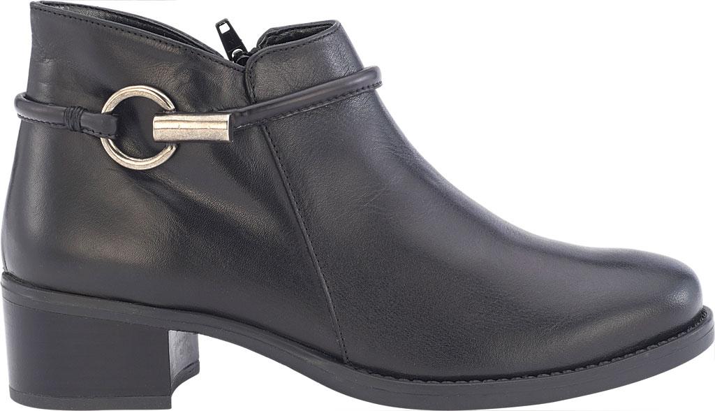 Women's David Tate Miller Ankle Boot, Black Calfskin, large, image 2