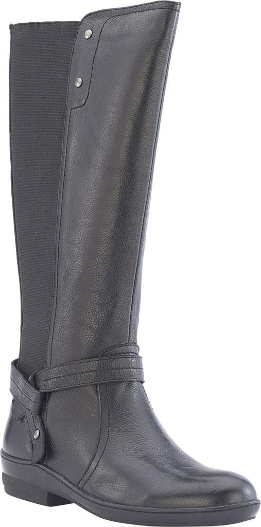 Women's David Tate Memphis 16 Knee High Boot, Black Pebble Grain, large, image 1