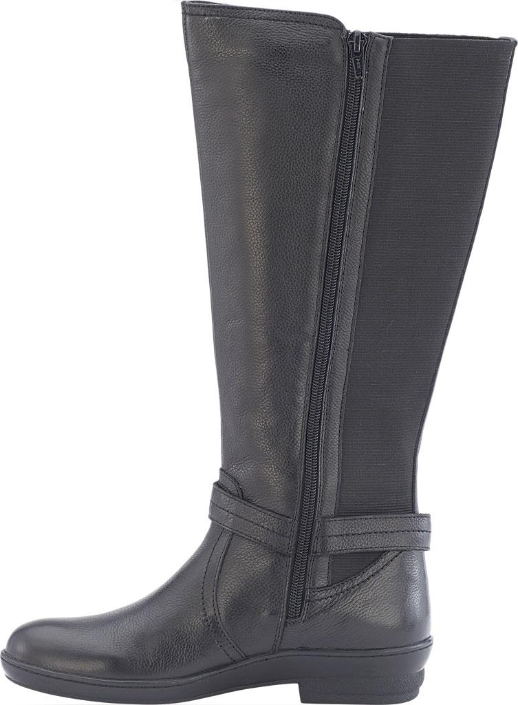 Women's David Tate Memphis 16 Knee High Boot, Black Pebble Grain, large, image 3