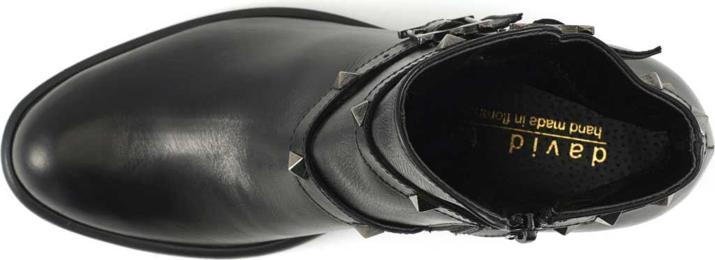Women's David Tate Asia Ankle Boot, Black Calfskin, large, image 5