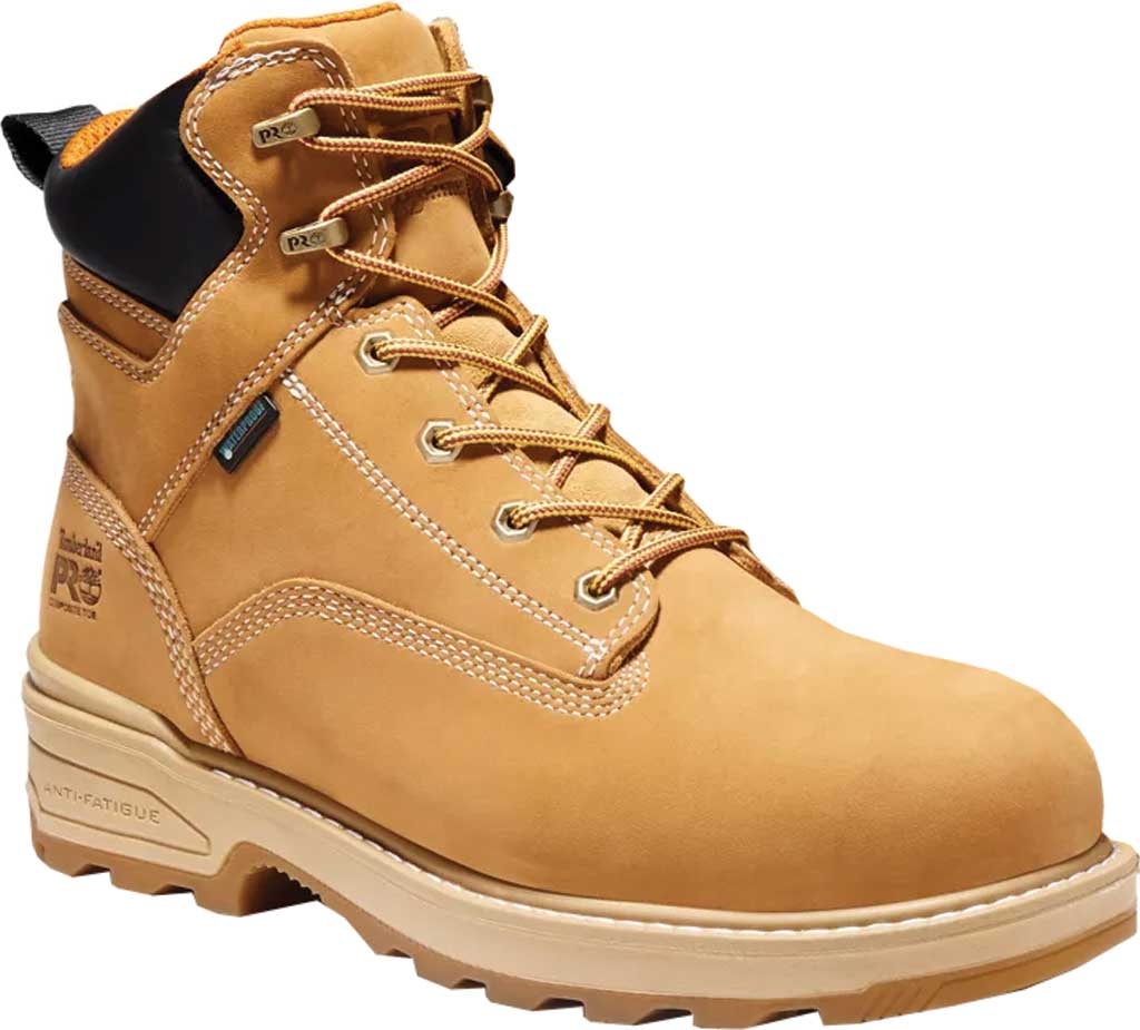 """Men's Timberland PRO Resistor 6"""" Composite Toe Waterproof 200G Boot, Wheat Tumbled Full Grain Leather, large, image 1"""