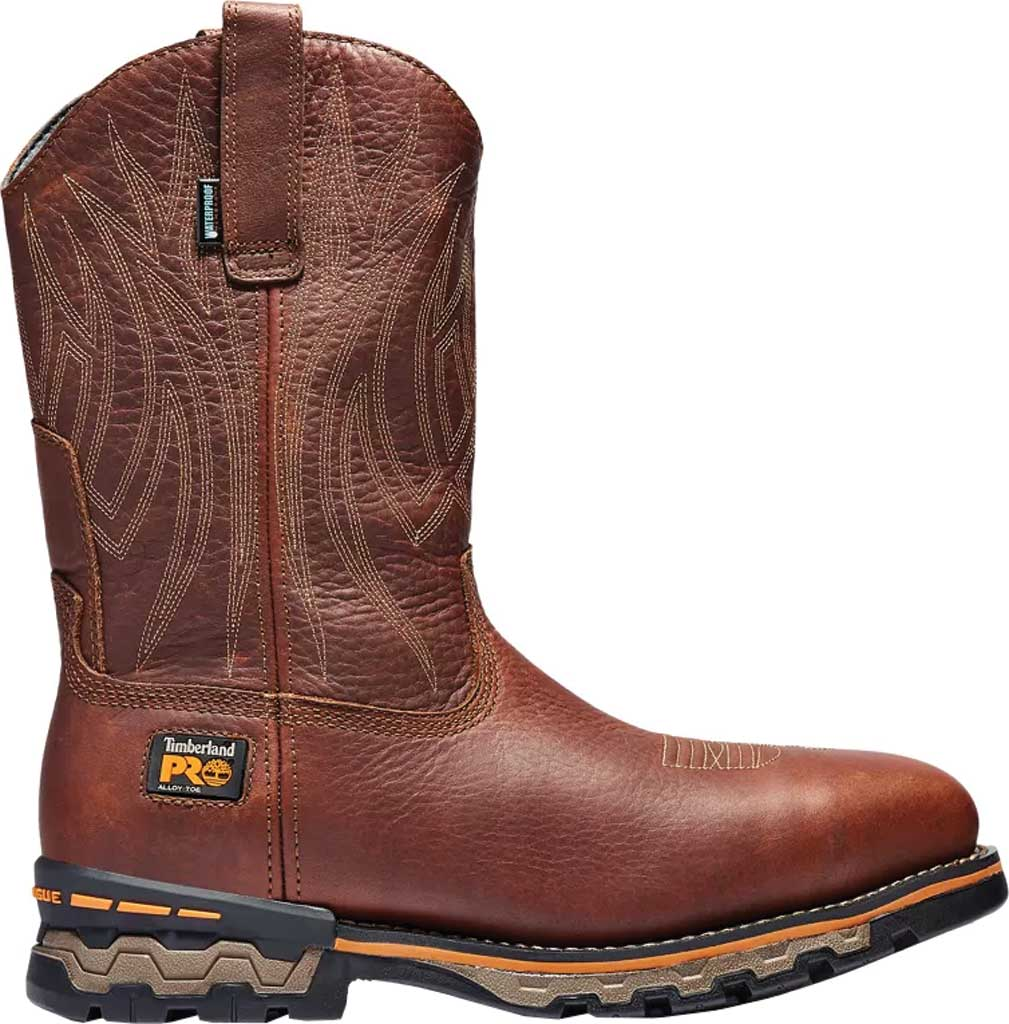 """Men's Timberland PRO Resistor 6"""" Composite Toe Waterproof 200G Boot, Wheat Tumbled Full Grain Leather, large, image 2"""