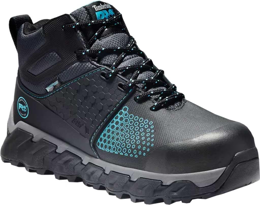 Women's Timberland PRO Ridgework Waterproof Composite Safety Toe Boot, Black Ever-Guard Waterproof Leather, large, image 1