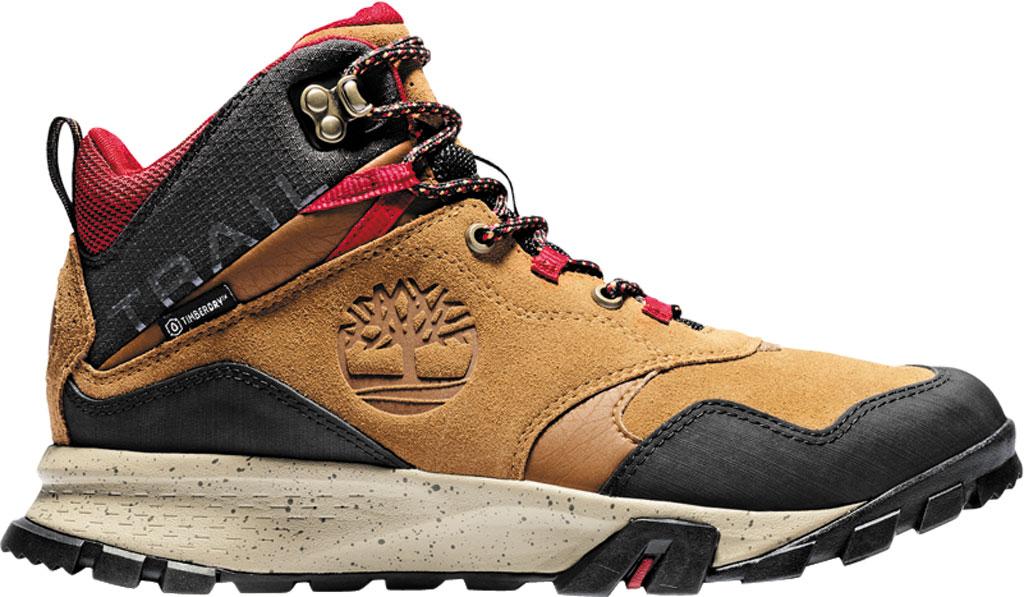 Men's Timberland Garrison Trail Waterproof Mid Hiking Boot, Medium Brown Suede, large, image 2