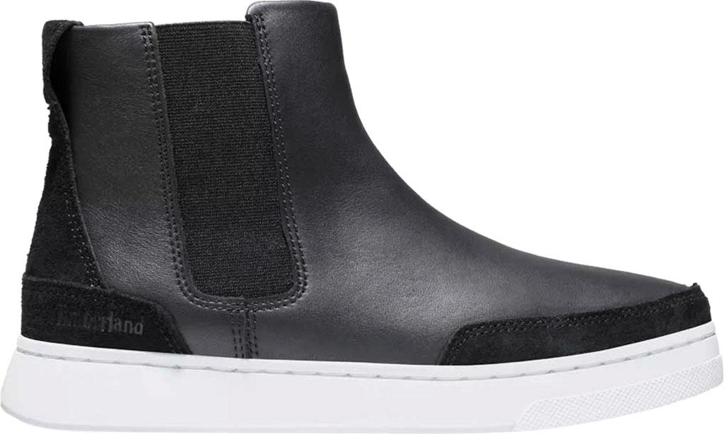 Women's Timberland Atlanta Green Chelsea Side Zip Sneaker, Jet Black Leather, large, image 2