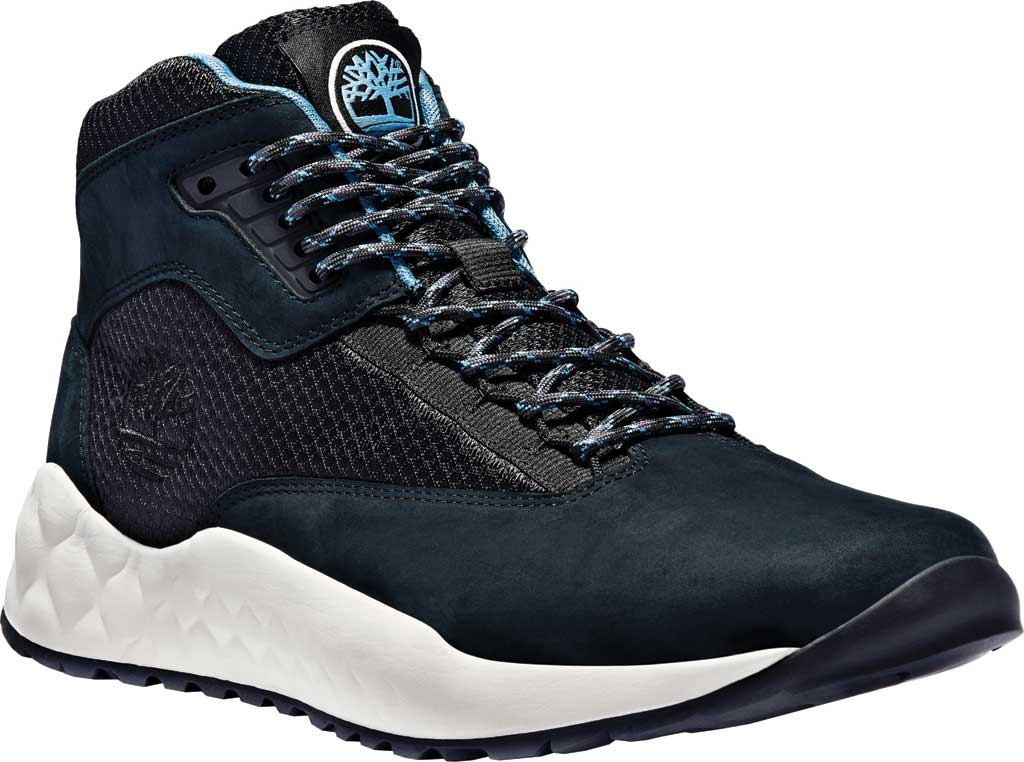 Men's Timberland Solar Wave Mid Hiking Boot, Black Leather, large, image 1