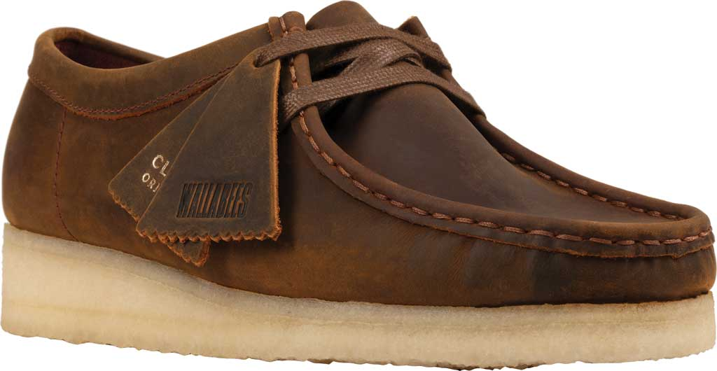Women's Clarks Wallabee Bootie, Beeswax Leather II, large, image 1