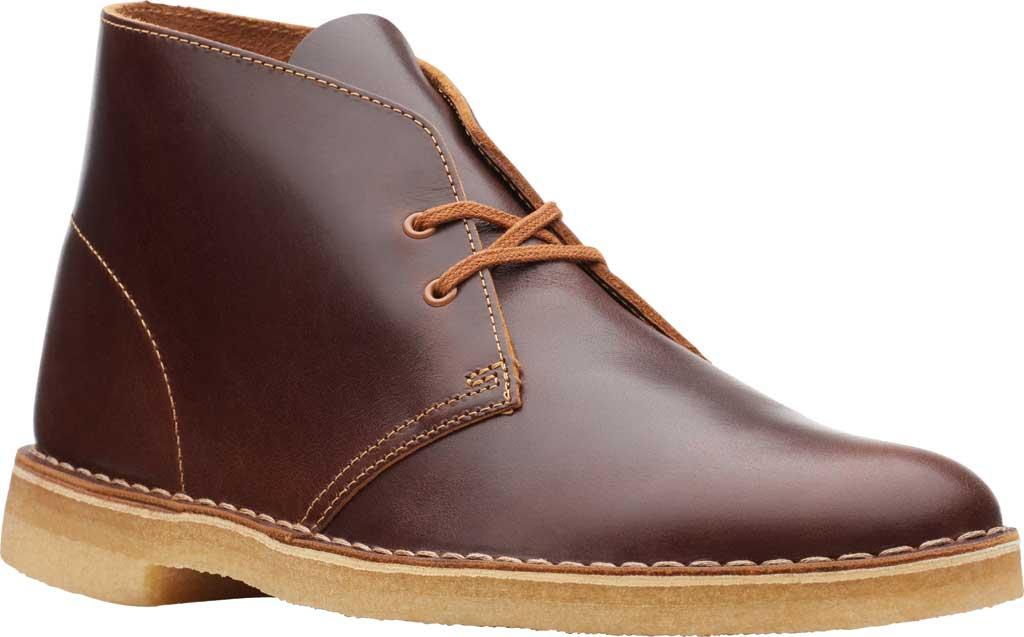Men's Clarks Desert Boot, Tan Leather, large, image 1