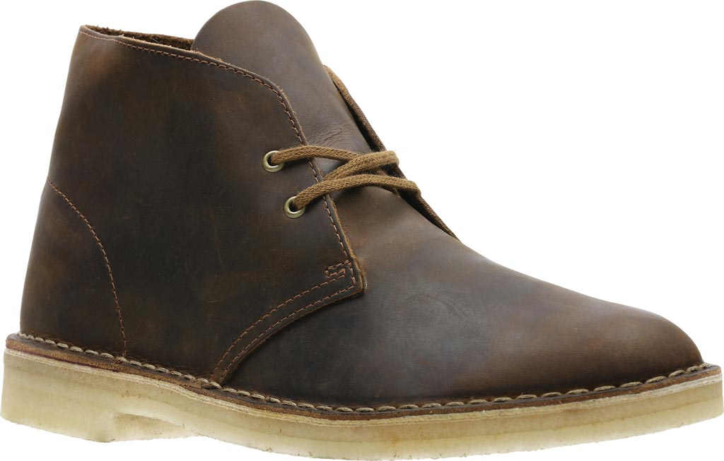 Men's Clarks Desert Boot, Beeswax Full Grain Leather, large, image 1