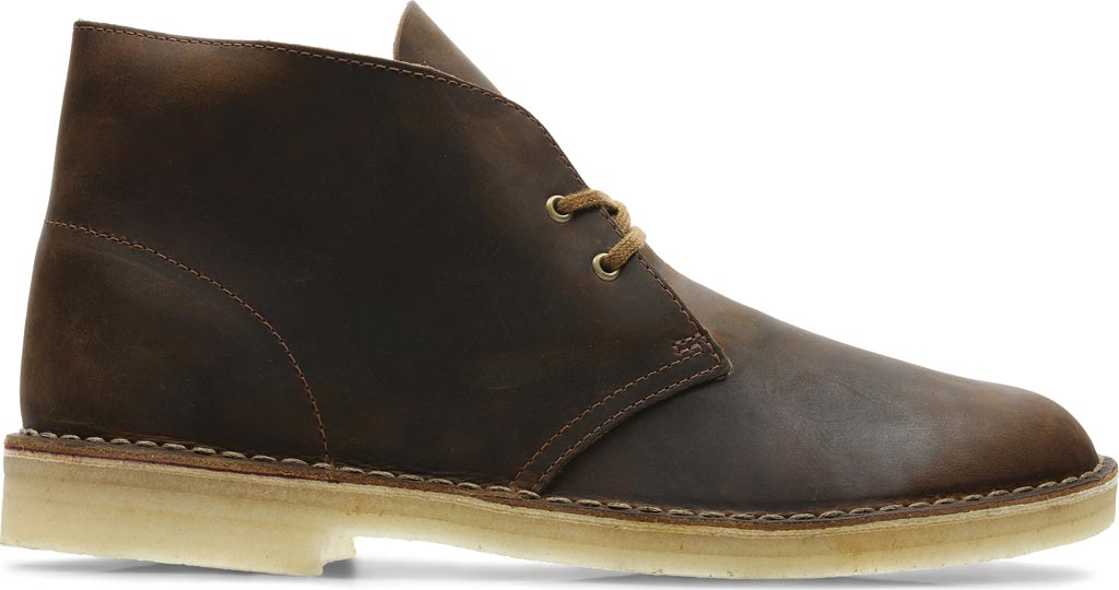 Men's Clarks Desert Boot, Beeswax Full Grain Leather, large, image 2
