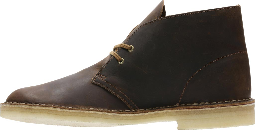 Men's Clarks Desert Boot, Beeswax Full Grain Leather, large, image 3