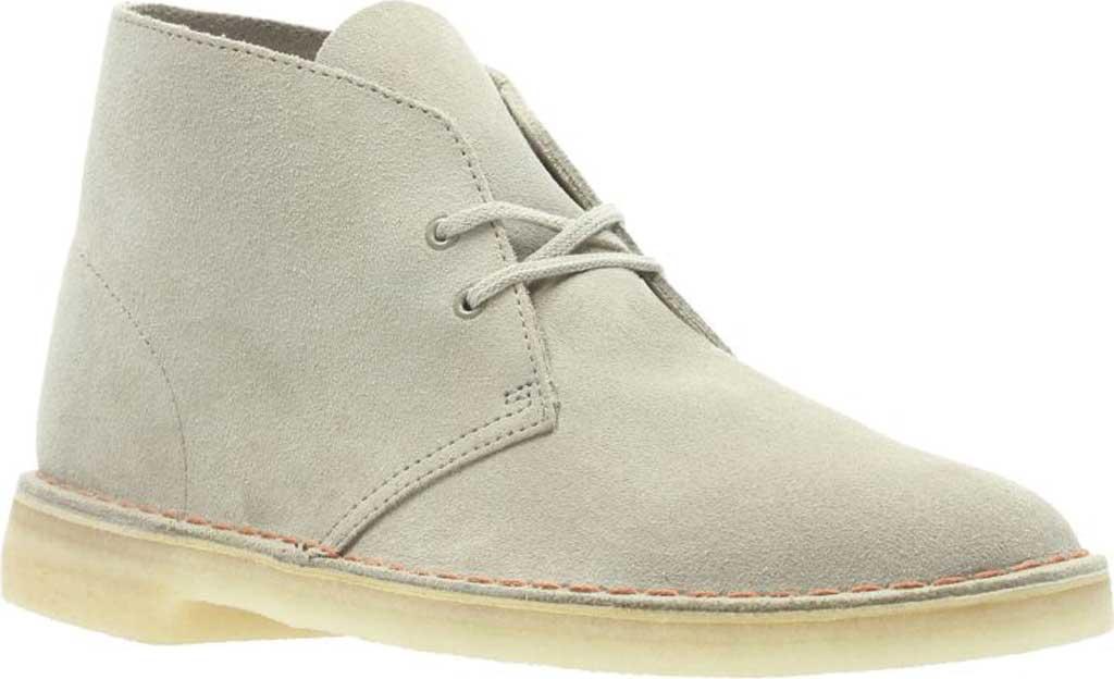 Men's Clarks Desert Boot, Sand/Sand Suede, large, image 1