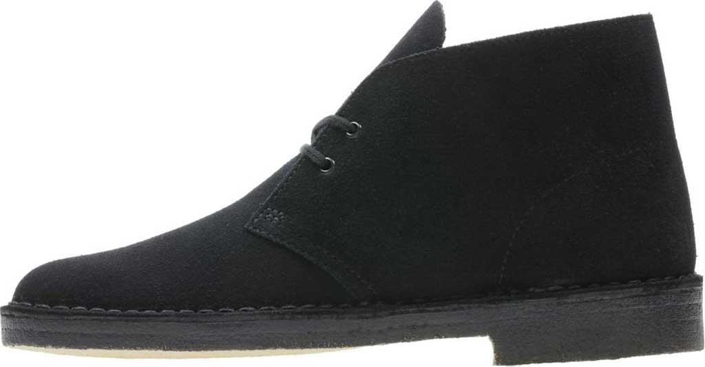 Men's Clarks Desert Boot, Black Suede 2, large, image 3
