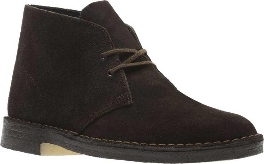 Men's Clarks Desert Boot, Brown Suede 2, large, image 1