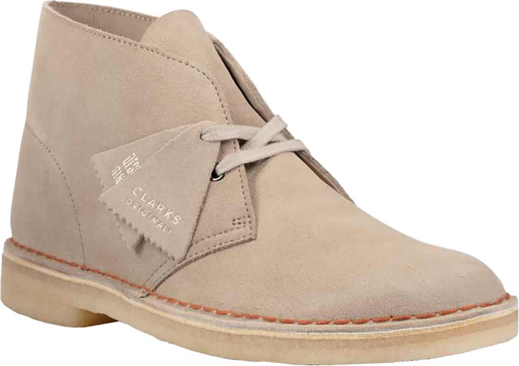 Men's Clarks Desert Boot, Sand Suede 2, large, image 1