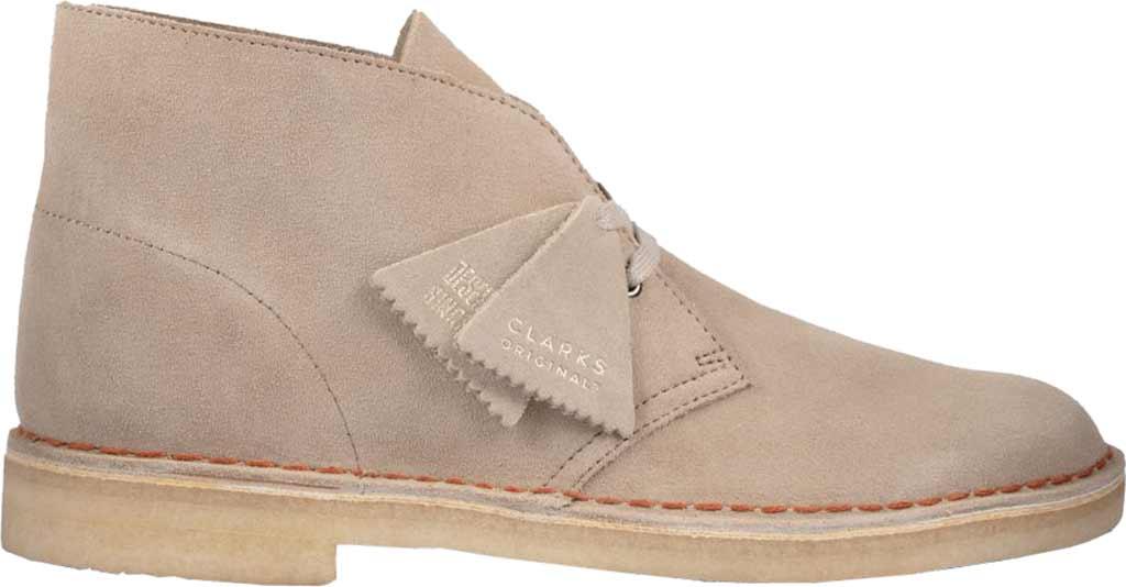 Men's Clarks Desert Boot, Sand Suede 2, large, image 2