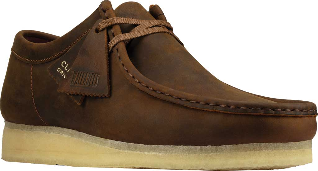 Men's Clarks Wallabee, Beeswax Leather II, large, image 1