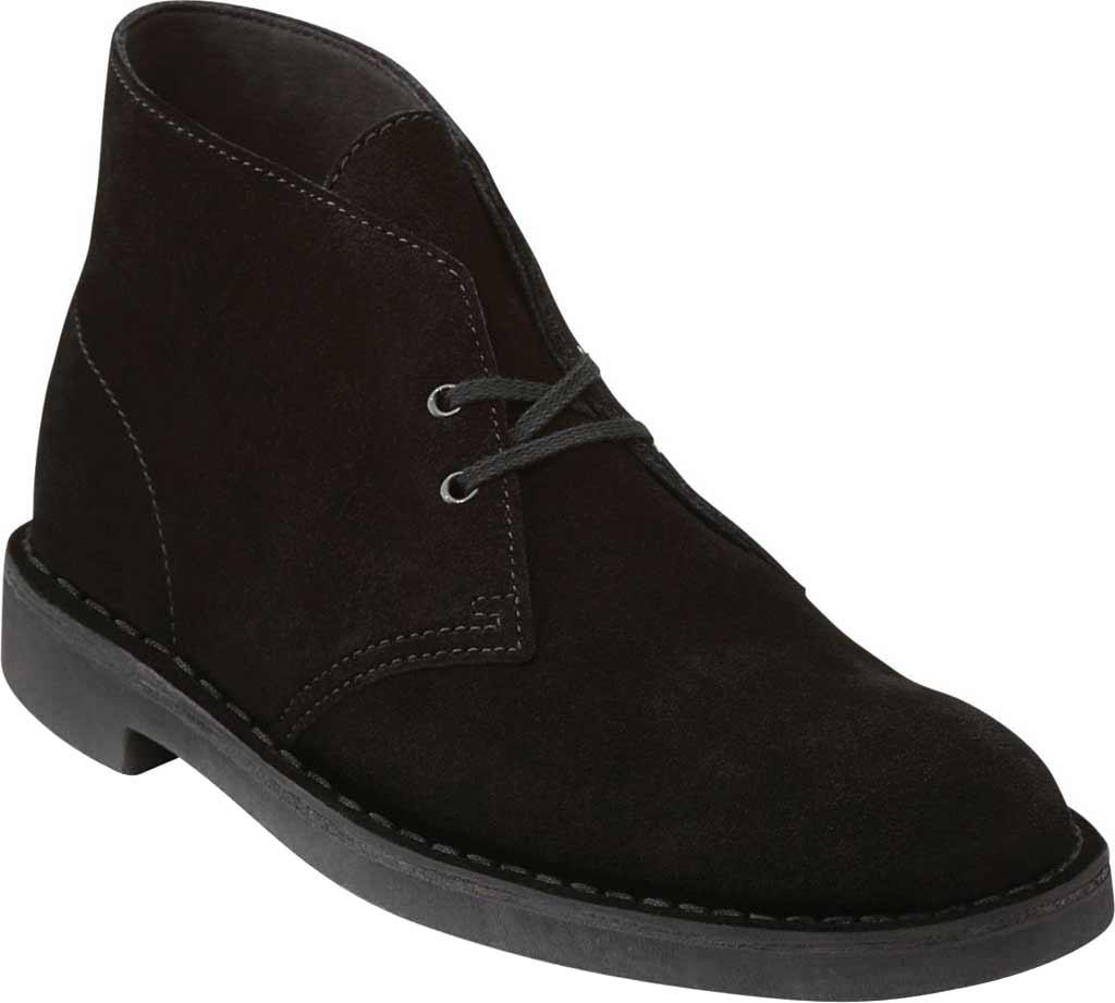 Men's Clarks Bushacre 2 Boot, Black Suede, large, image 1