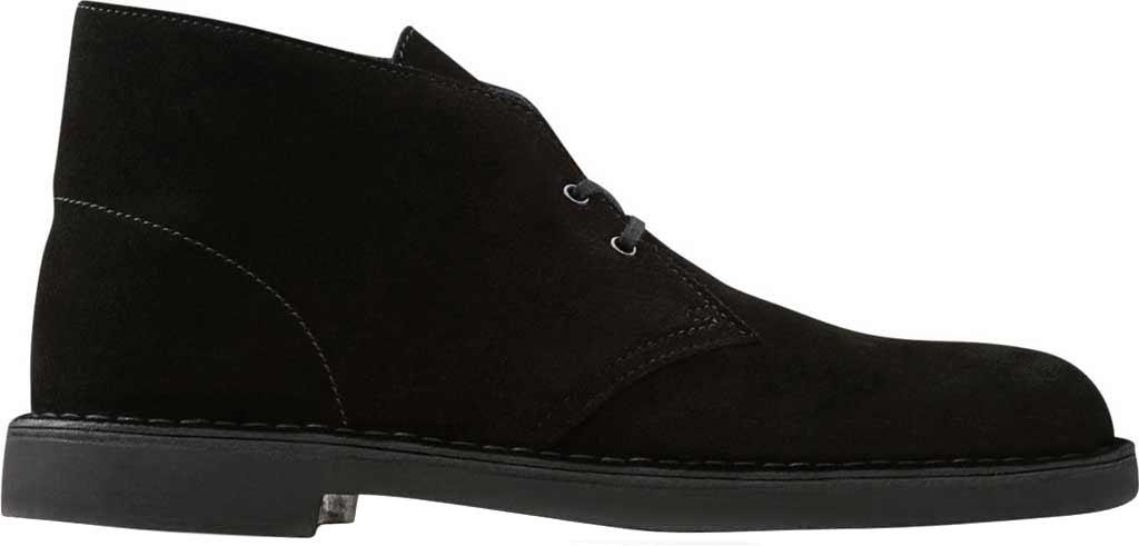 Men's Clarks Bushacre 2 Boot, Black Suede, large, image 2