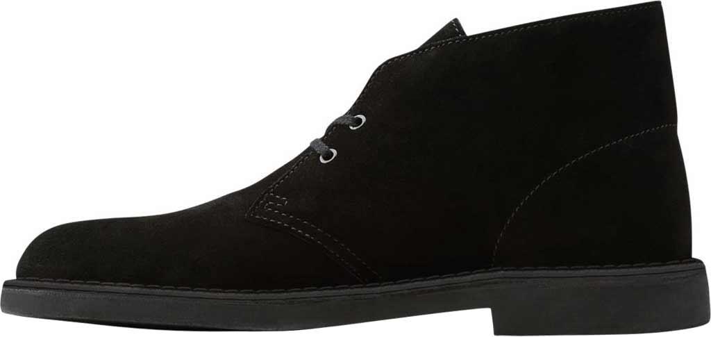 Men's Clarks Bushacre 2 Boot, Black Suede, large, image 3