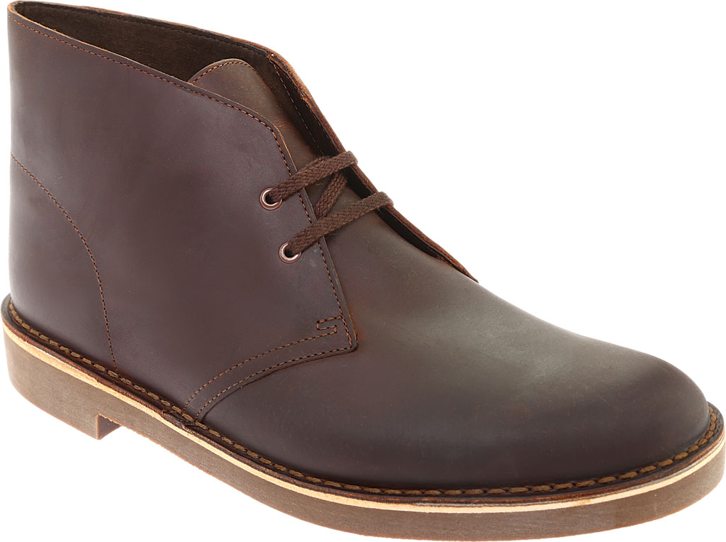 Men's Clarks Bushacre 2 Boot, Dark Brown Leather, large, image 1